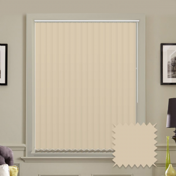 Unicolour Beige 5 inch Vertical Blinds - made to measure